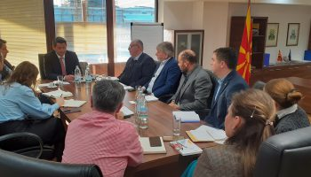 Meeting with Minister Naser Nuredini in Skopje